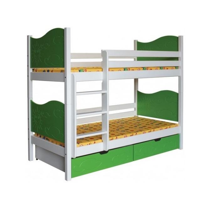 Poschodová posteľ Slniečko