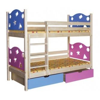 Poschodová posteľ Hviezdička