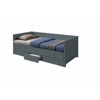 Rozkladacia posteľ Goreta, sivá